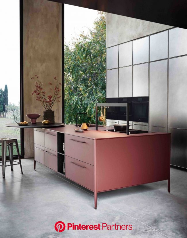 Red Cesar UNIT Laminate Kitchen | Interior design kitchen, Kitchen inspirations, Kitchen style