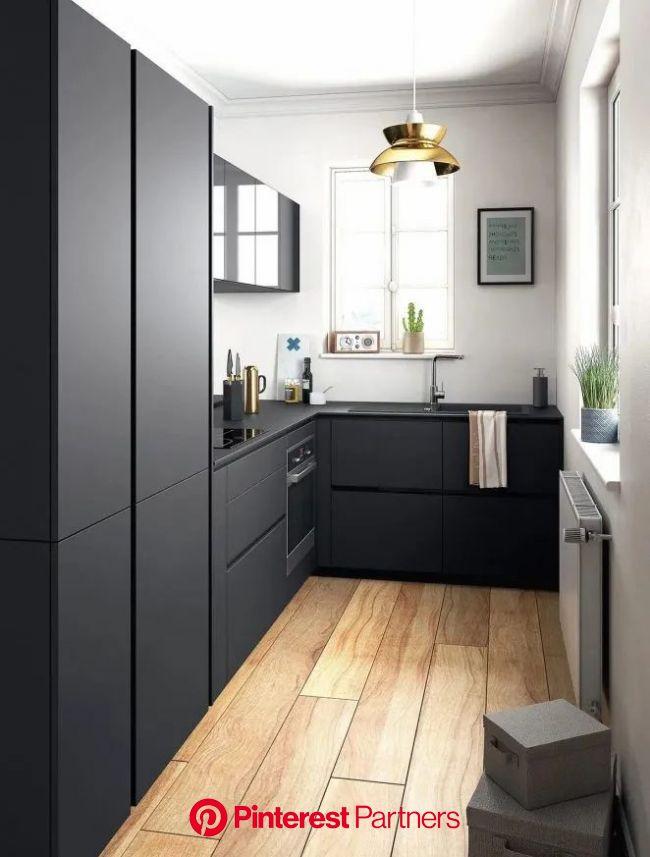 Cuisine Noir et Bois : Osez l'alliance avec nos 16 Idées | Amenagement petite cuisine, Cuisine moderne, Cuisine appartement