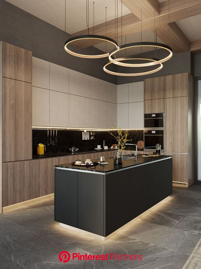 Luxury apartment in residential complex Baisanat - Dezign Ark (Beta) in 2020 | Modern kitchen apartment, Luxury kitchen design, Kitchen room design