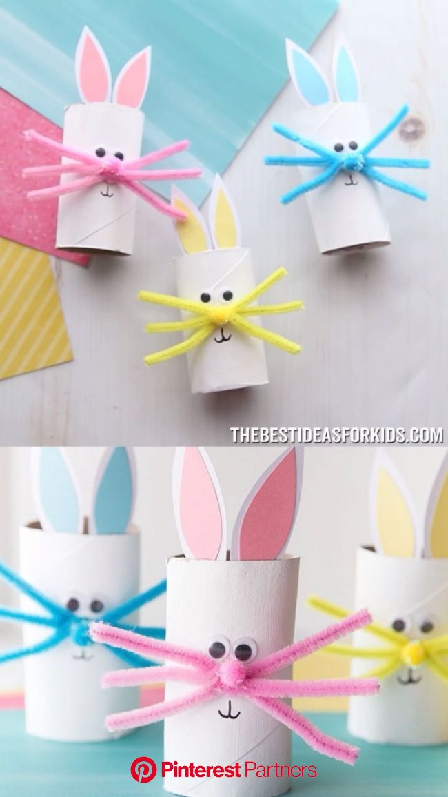 Toilet Paper Roll Bunny   Spring crafts for kids, Toilet paper crafts, Easy easter crafts