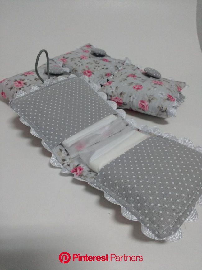 Porta absorvente | Absorvente, Porta absorvente de tecido, Costura artesanato