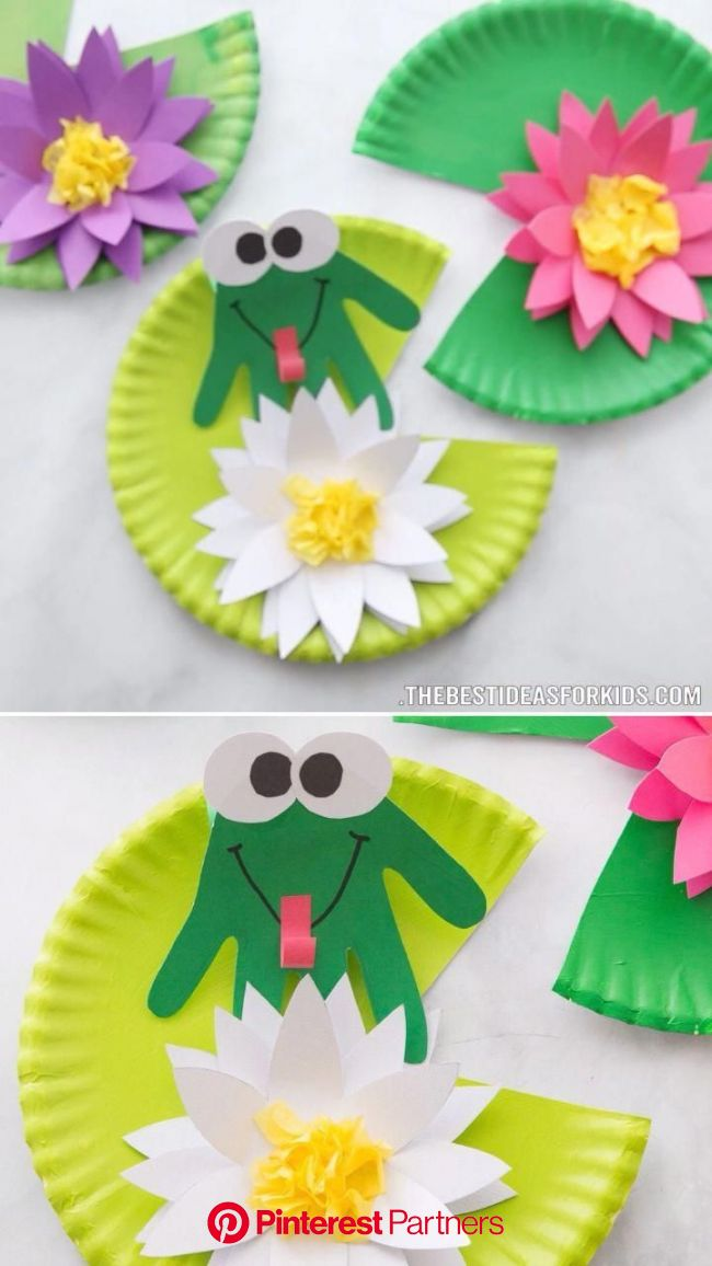 Frog Craft - The Best Ideas for Kids | Frog crafts, Handprint crafts, Handprint craft