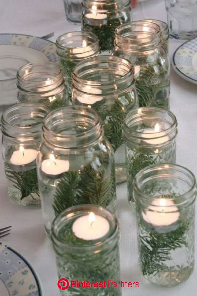28 Insanely Easy Christmas Decorations To Make In A Pinch | Christmas decorations, Winter centerpieces, Christmas table