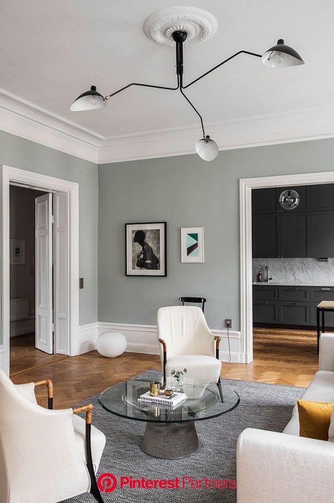 〚 Когда пространство и цвет великолепны: квартира в Стокгольме 〛 ◾ Фото ◾ Идеи◾ Дизайн | Living room decor, Living room interior, Home living room