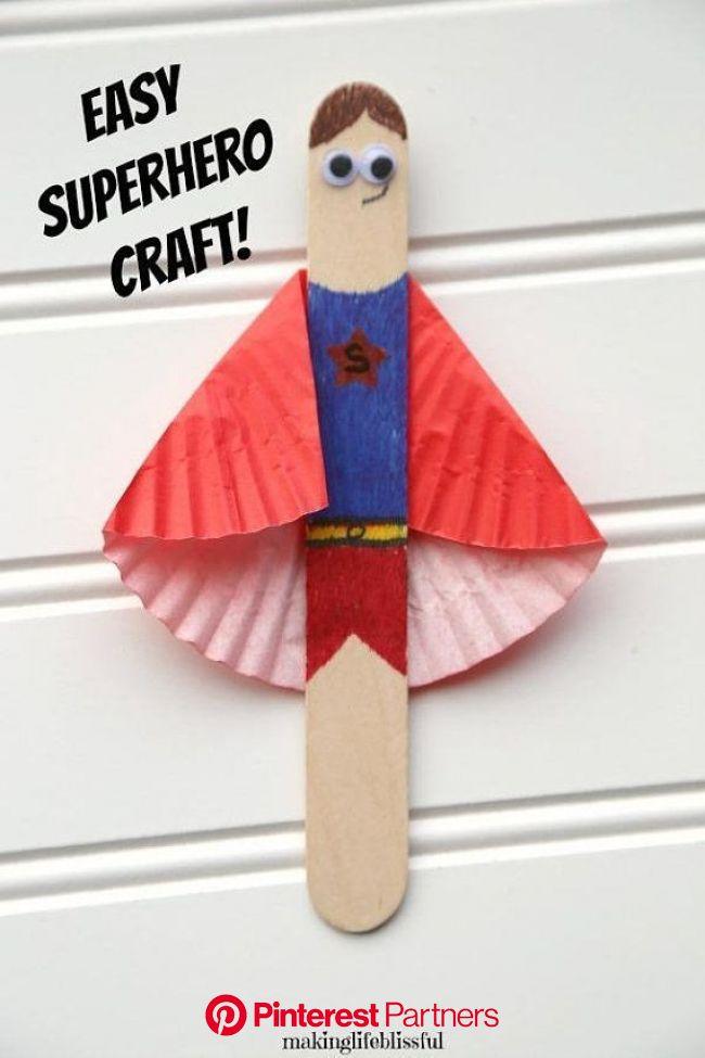 DIY Superhero Craft Kit for Kids 3 per kit   Etsy   Craft kits for kids, Craft stick crafts, Fathers day crafts