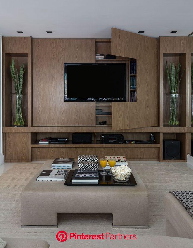 Moderno e Atual | Casa de Valentina | Decoração sala de tv, Decoração de home theater, Decoração da sala