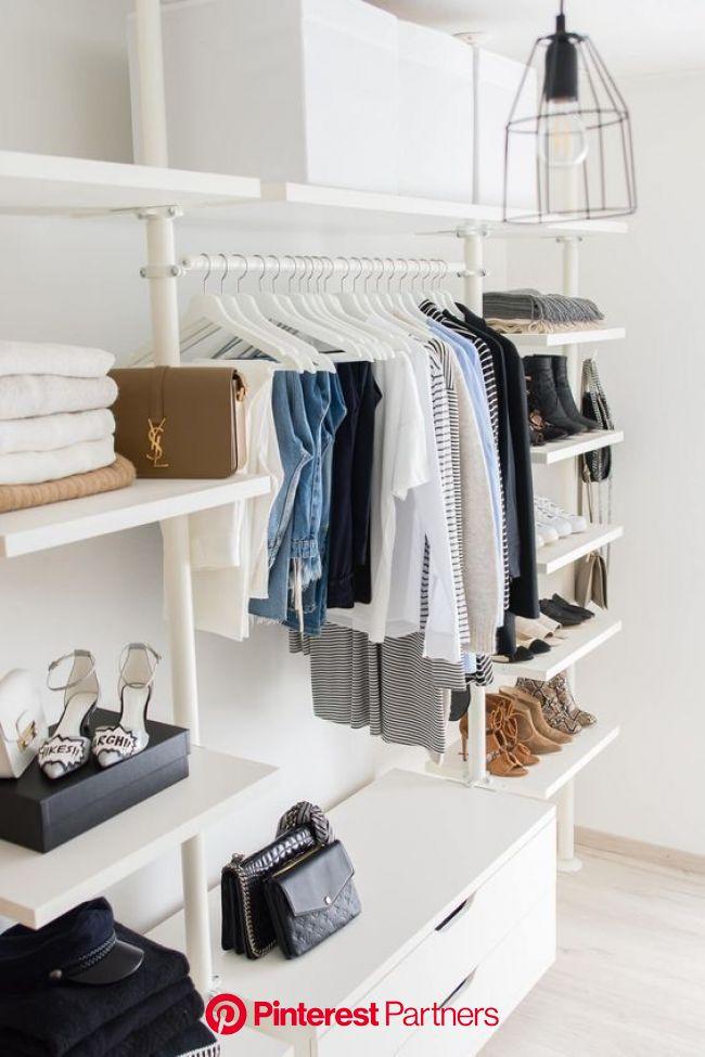 PASSO A PASSO PARA UM CLOSET ORGANIZADO | Projetos de closet, Como organizar o quarto, Decoração de casa