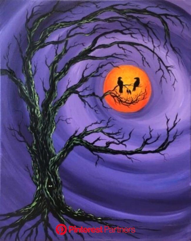 Halloween???? [Video] | Halloween canvas paintings, Halloween canvas, Halloween artwork