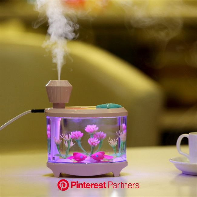 Fish Tank Lamp Humidifier for Home Office Travel, Creative Decoration Tool b7 in 2020 | Kawaii room, Creative decor, Aesthetic room decor