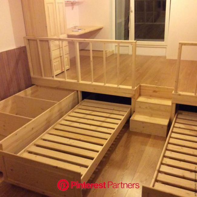 Хранение вещей: Детская комната с подиумом – заказать на Ярмарке Мастеров – A09BXRU   Хранение вещей, Москва   Кровать-подиум, Детская комната, Мебель