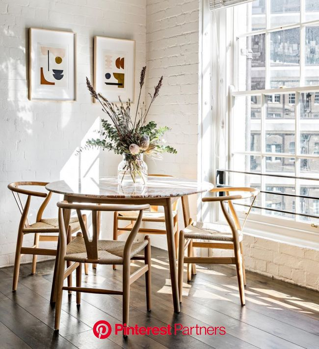 CH24 Wishbone Chair in 2020 | Apartment dining, Boho dining room, Modern dining room
