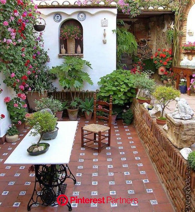 Jardin méditerranéen : 90 idées pleines de soleil | Mexican patio, Garden, Spanish garden