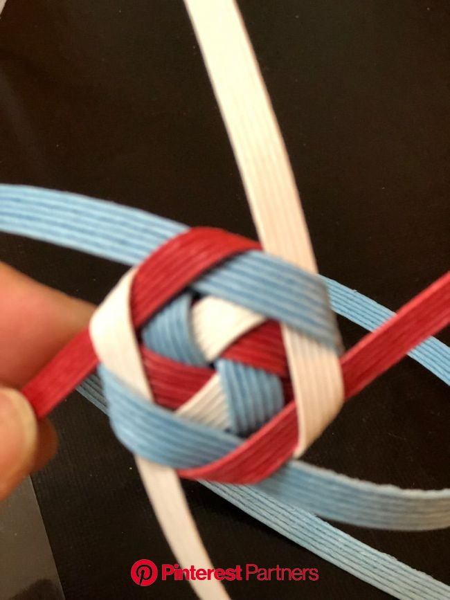 花結びの作り方   花結び, エコ クラフト かご 作り方, クラフトバンド