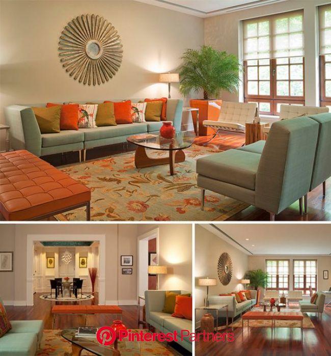 Go Retro in a Traditional Home | Retro living rooms, Living room orange, Modern retro furniture