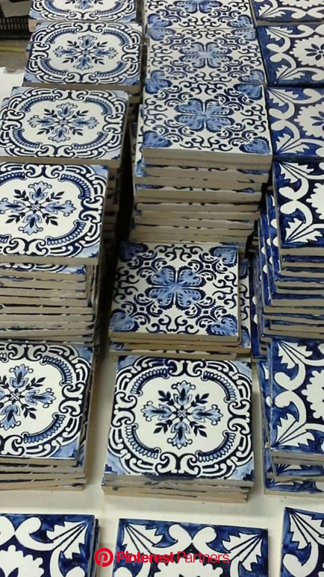 Blue and white tiles to tile your Mediterranean life with. #TheJewelleryEditorLoves #BlueandWhire | White decor, Blue tiles, Mediterranean decor
