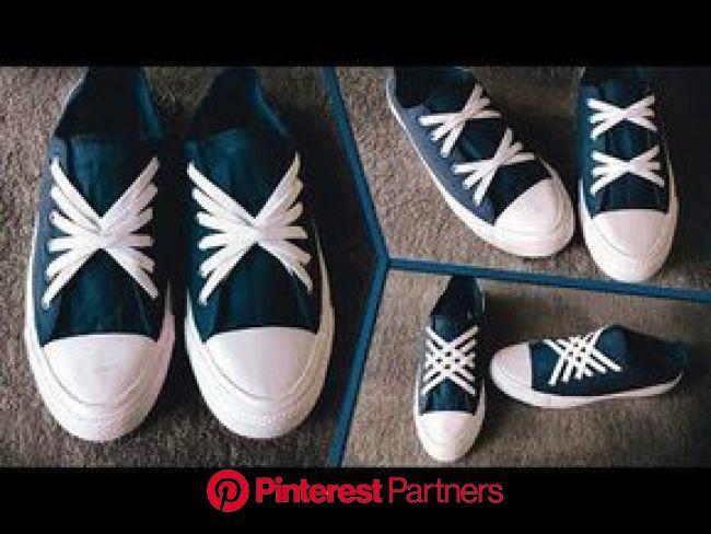 3 Beautiful ways to tie Shoe Laces | CrissCross Style - YouTube | How to tie shoes, Ways to lace shoes, Shoe lace patterns