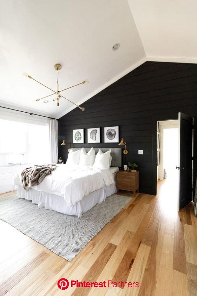 Black and White Modern Master Bedroom | Modern master bedroom, Modern bedroom, Stylish bedroom