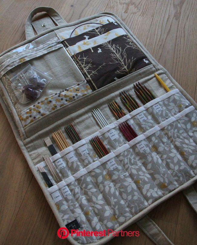 Stricknadeletui2 | Knitting needle storage, Knitting needle case, Knitting accessories