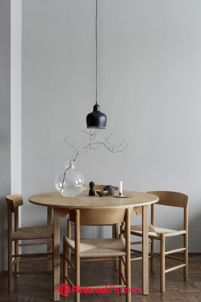 Stylish apartment in wood and grey | Minimalist dining room, Room interior, Interior