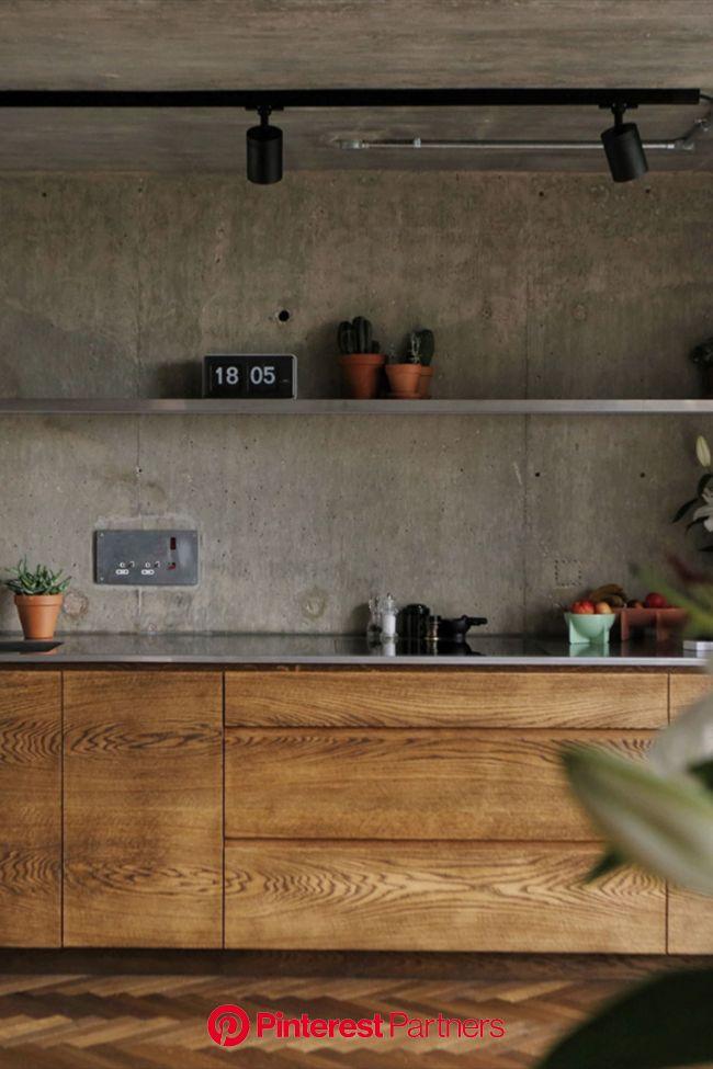 Peek inside an Ernö Goldfinger-designed brutalist bolthole - The Spaces   Concrete wall interior design, Industrial interior kitchen, Concrete interio