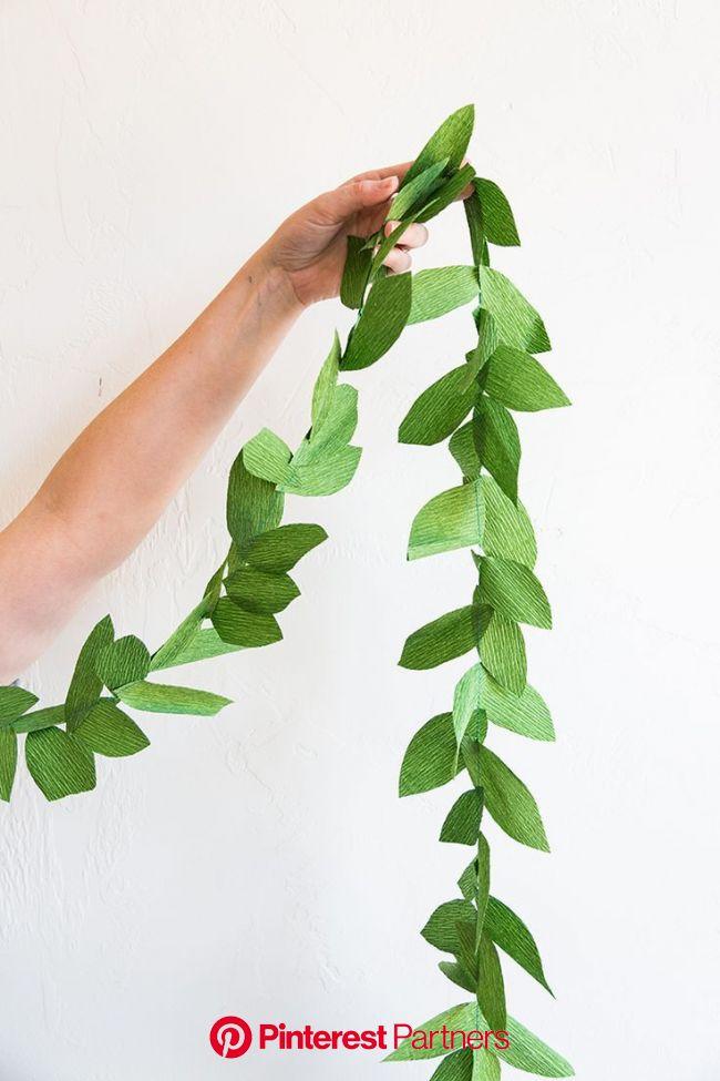 DIY paper leaf garland - The House That Lars Built   Paper flowers, Diy garland, Flowers diy