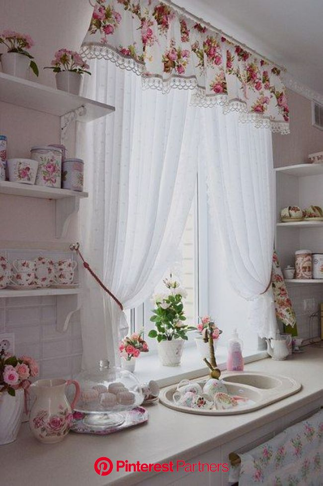 20 Shabby Chic Kitchen decor ideas for 2020 | Shabby chic kitchen curtains, Country kitchen curtains, Vintage kitchen curtains