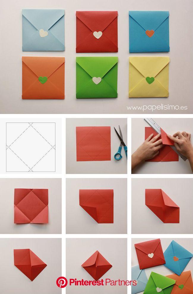 Como Fazer um Envelope de Papel | Diy envelope, Paper crafts, Origami envelope