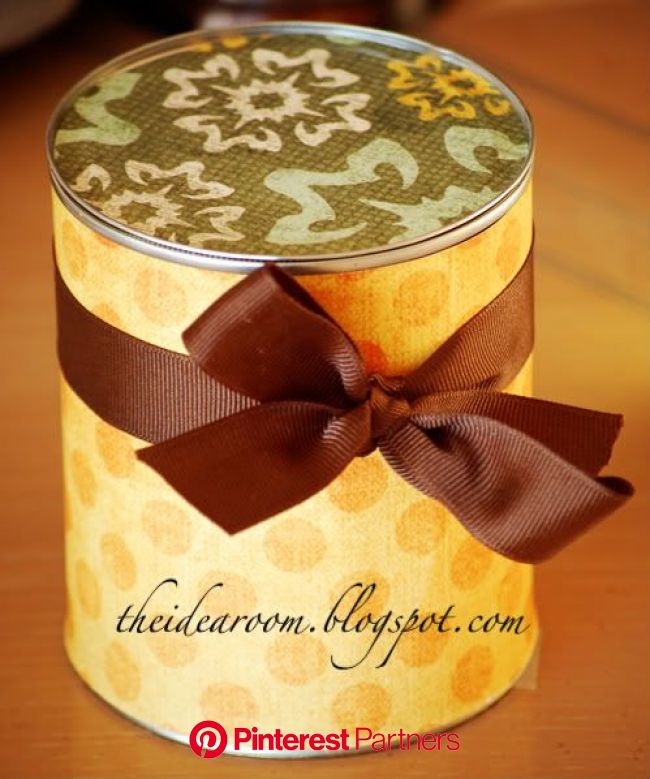 Gifts in a Can | Gifts, Teacher gifts, Homemade gifts