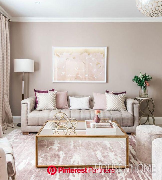 Discover designer Hilary Ramsay's formula for a feminine space that looks sleek, not sweet.   …   Living room decor apartment, Living room design