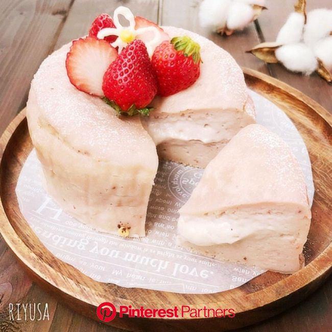 フルーチェ使って焼くまで5分❤️苺のとろ〜りチーズケーキ | riyusa日和。ザッパレシピで褒められおやつと時々おかず | 簡単デザート, レシピ, デザート