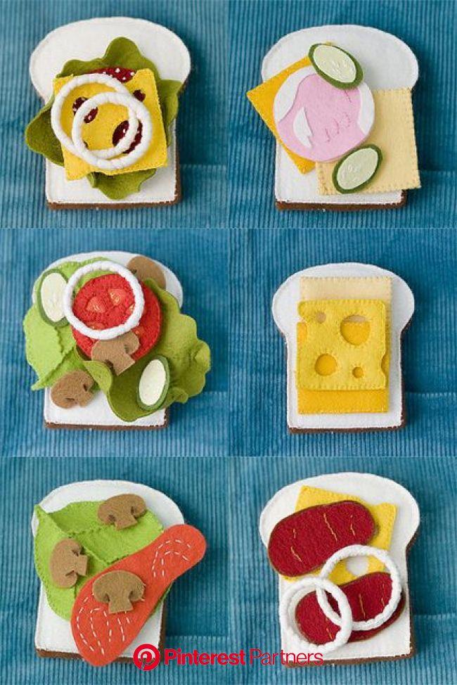 felt sandwich set | Felt food patterns, Felt food, Felt diy