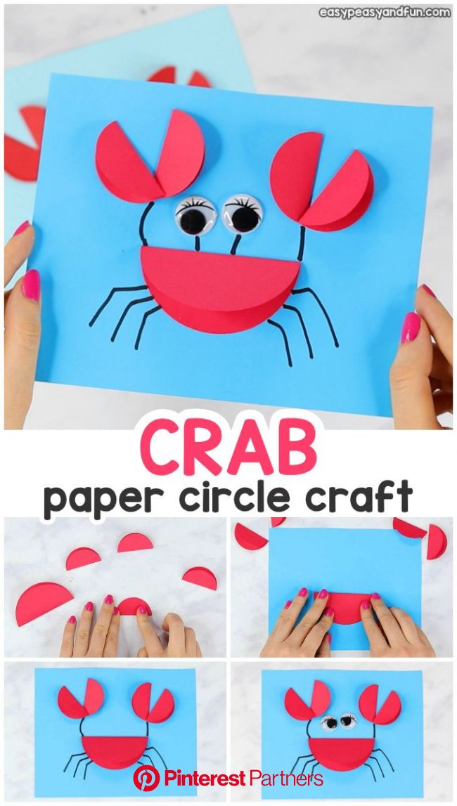 Paper Circle Crab Craft | Circle crafts, Crab crafts, Paper crafts