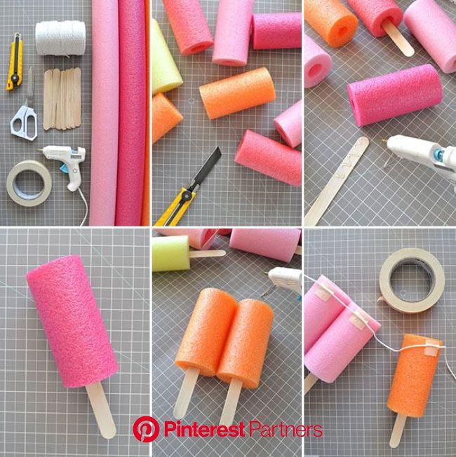 Jumbo Popsicle Garland | Oh Happy Day! | Eis am stiel party, Geschenke zur geburt basteln, Einladung geburtstag basteln