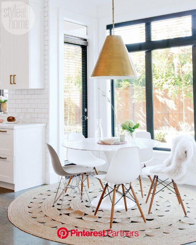 Tapis rond : pas cher et design - Blog Déco (avec images) | Salle à manger table ronde, Déco salle à manger, Déco maison