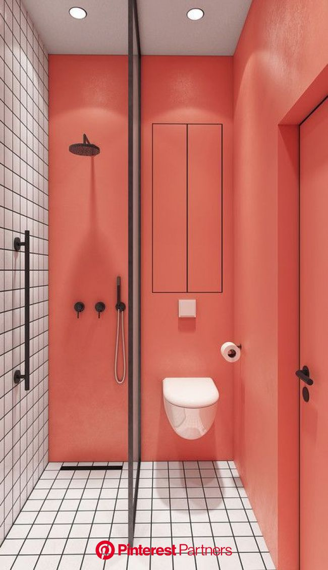Two-Toned Walls In Bathroom Trend - Paint And Tile Ideas | Bathroom trends, Bathroom model, Trendy bathroom