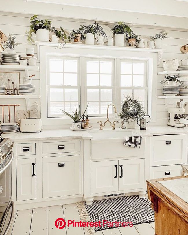 Winter Farmhouse Kitchen   Rustic farmhouse kitchen, Home decor kitchen, Kitchen design