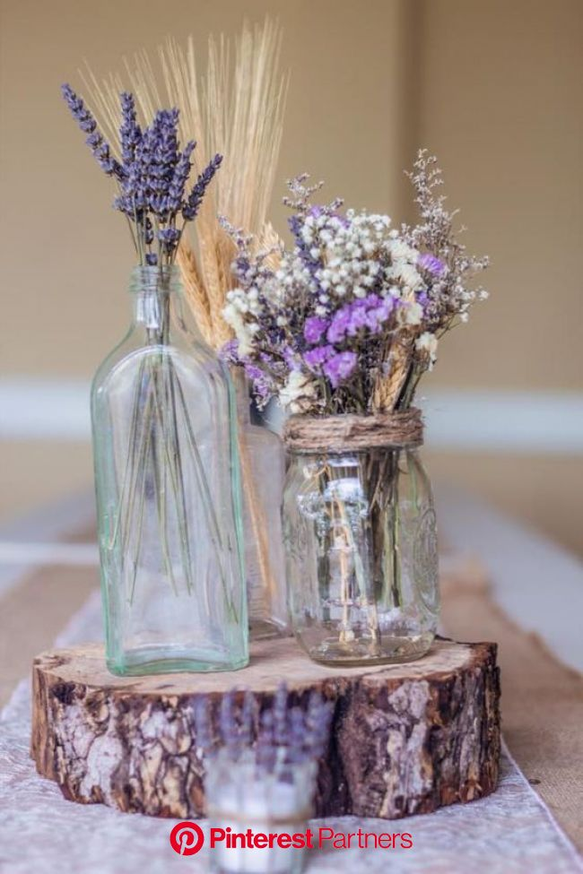 Beautiful Spring Centerpieces You Can Easily Make for Your Home | Lavender centerpieces, Lavender wedding, Wedding decorations
