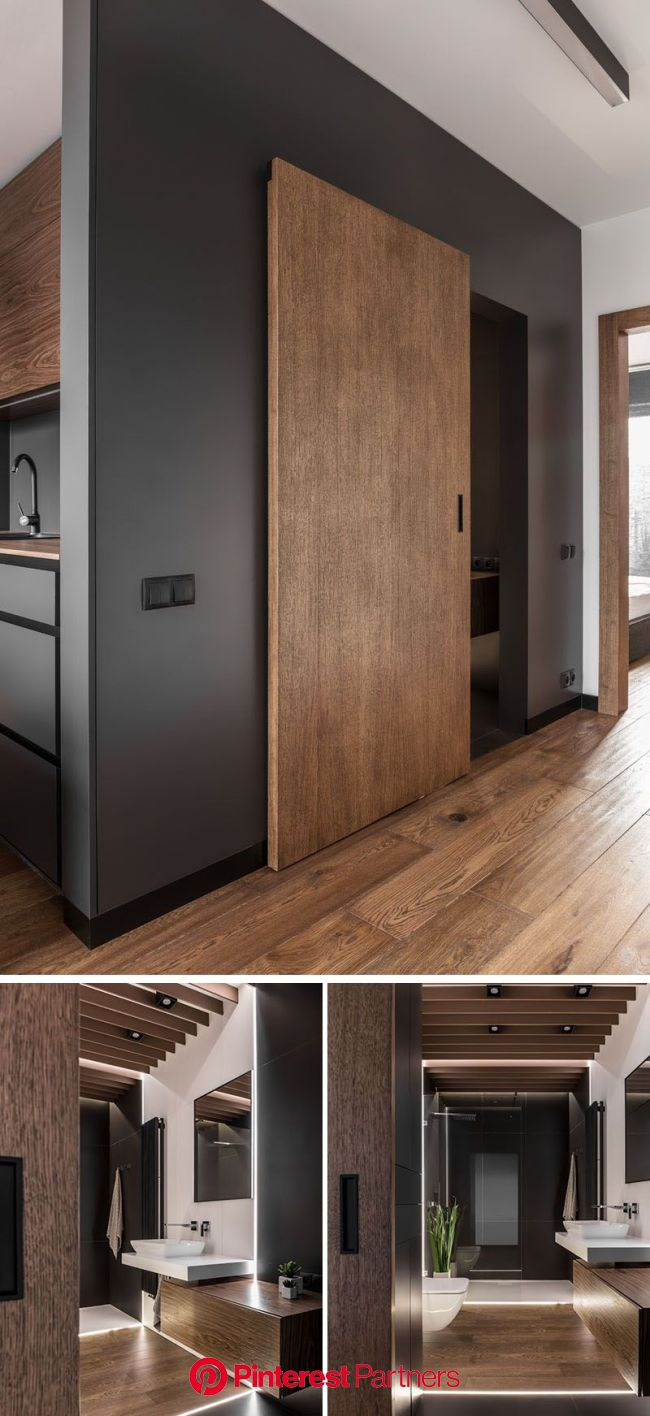 This Apartment's Palette Is Full Of Greys, Black, And Wood(画像あり) | インテリアデザイン, ハウスデザイン