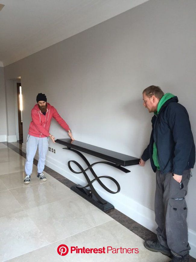 Our guys placing and fitting a Decorus console table at a private residence, Lon...#console #decorus #fitting #guys #lon #placi… in 2020 | Konsole