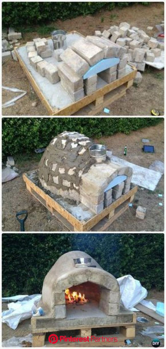 DIY Pallet Brick Pizza Oven Instructions - DIY Outdoor Pizza Oven Ideas Projects | Pizza oven outdoor diy, Diy pizza oven, Brick pizza oven