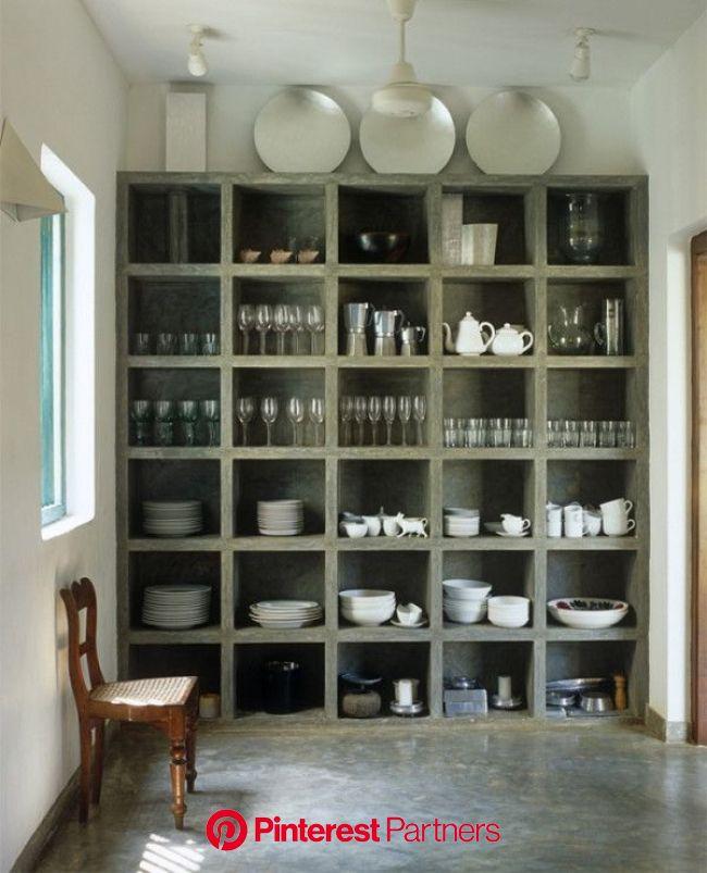 Interior Design Ideas: 12 Inviting Concrete Interiors - Design Milk | Concrete interiors, Home decor, Shelving