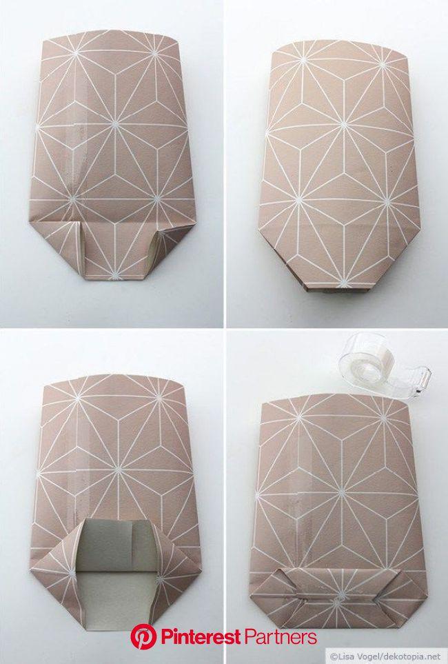 おそらく、包装紙で包むのは不可能なこれらすべての贈り物をご存知でしょう。キャンドル、ボトル、カップ、基本的に角のないもの。 「ボンボンVe ... #dekotopia #DIY Purse paper #ラウンドは正方形でなけ… in 2020 (With images) | Gift bags