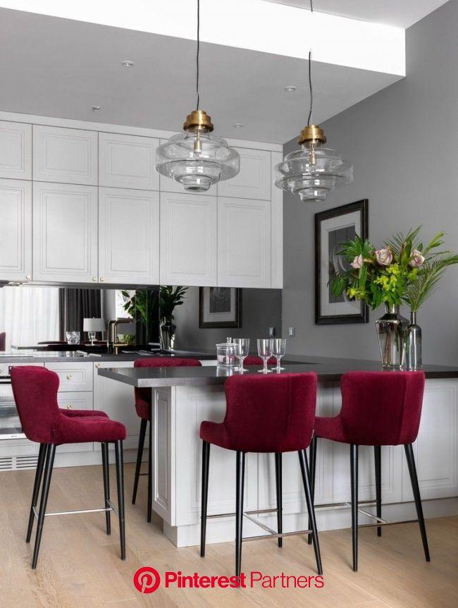 Интерьер недели: квартира в стиле современной классики — INMYROOM | Интерьер, Планы кухни, Кухня в квартире-студии