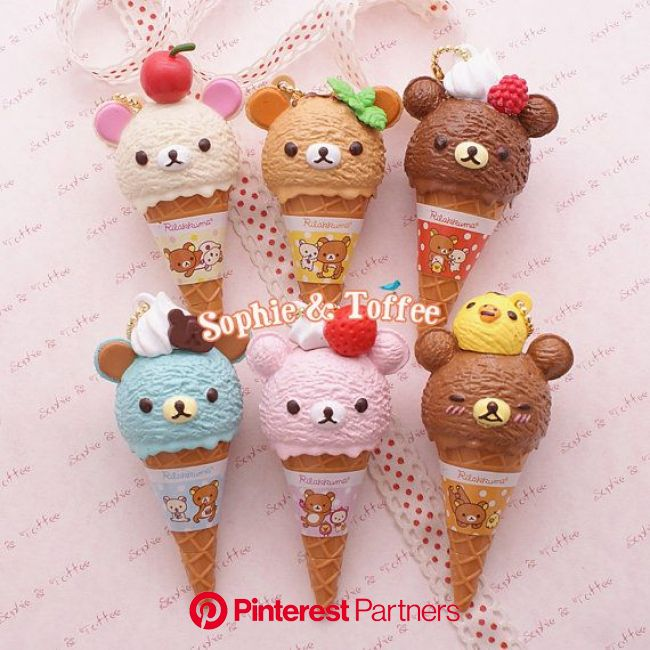Re-Ment Rilakkuma Ice Cream Charm 6 Colors 10% OFF | Polymer clay crafts, Polymer clay kawaii, Cute polymer clay