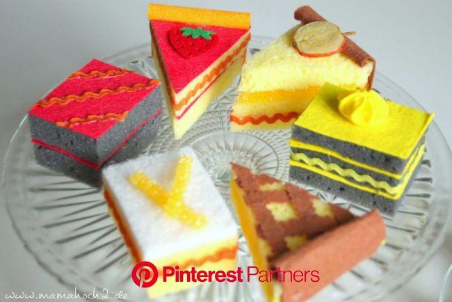 Kuchen und Naschereien für Kinderküche und Kaufmannsladen Teil 1- DIY Playfood ⋆ Mamahoch2 | Lebensmittel essen, Lebensmittelhandwerk, Lebensmittel