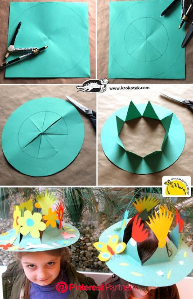 English is FUNtastic: Easy Easter Bonnets in 2020 | Crafts, Crown crafts, Preschool crafts