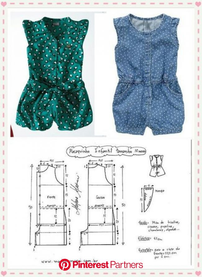 entero niña talla 12                                                       …   Kids dress patterns, Girls dress sewing patterns, Baby dress patterns