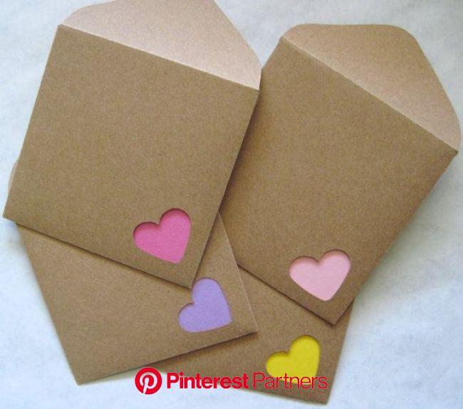 バレンタインやプチギフトに 簡単でオシャレなラッピングの作り方 | Diy 封筒, Diy カード, カードクラフト