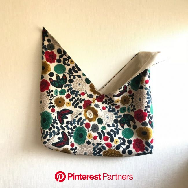 リバーシブルあずま袋の作り方【型紙図と動画あり | 巾着バッグ 作り方, あづま袋, 袋