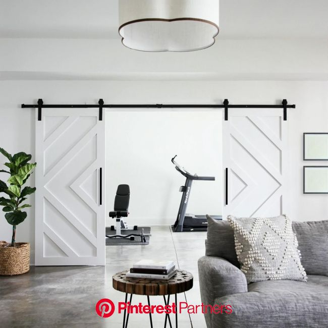How to Build and Install a Double Barn Door [Video] in 2020 | Home, Home decor, Decor